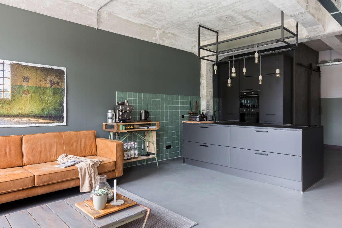 Industriele Vloer Woonkamer : Berkers vloeren betonlook vloeren woonbeton gietvloeren