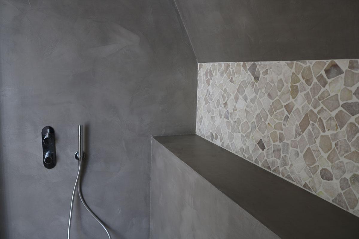Beton ciré badkamer in doorn bruizt