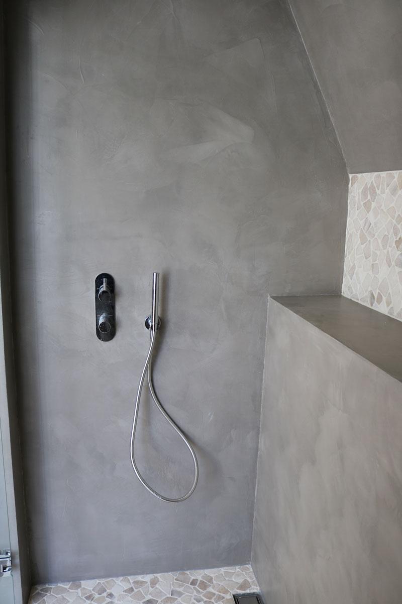 Beton ciré badkamer in Doorn - Bruizt
